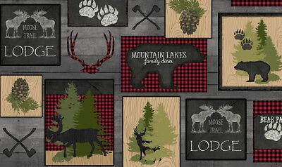 Moose Trail Lodge - FABRIC QT ~ MOOSE TRAIL LODGE ~ Audrey Jean Roberts (26682 K) by the 1/2 yard
