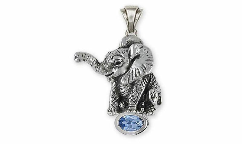 Elephant Jewelry Sterling Silver Elephant Pendant Handmade Wildlife Jewelry EL2-