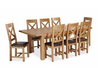 New Small / Medium Butterfly Extending Salisbury Erne Oak Dining table & 6 chairs £799