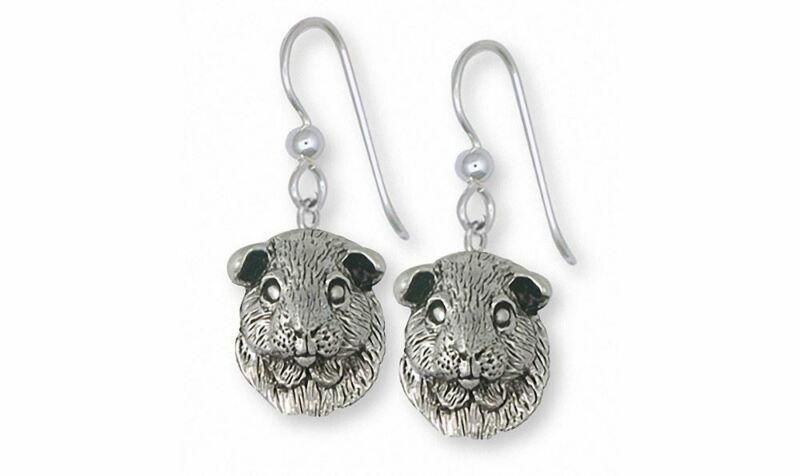 Guinea Pig Earrings Jewelry Sterling Silver Handmade Piggie Earrings GP2-E