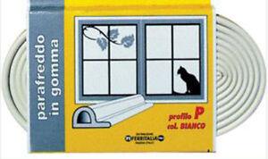 Paraspifferi parafreddo in gomma 6mt p guarnizione - Paraspifferi per finestre ...