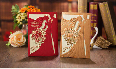 Gold Red Laser Personalized Banquet Party Wedding Invitation Card Envelope Seal