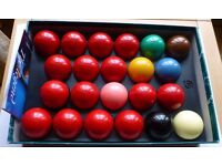 Aramith Premier full size snooker balls, used only once, bargain