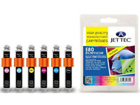 Jet Tec Ink Cartridges NEW pack of 6 E80 for Epson T0801/2/3/4/5/6 plus 5 extra cartridges