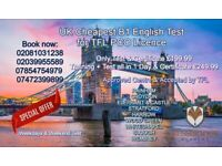 B1 English test for Private Hire Licence renewal or new application, cheap fees, Start From £50.00