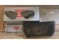 Ray Ban Aviator Sunglasses Silver Mirrored size medium BNWB *postage*