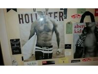 Unusual Large Black picture/photo frame-brand labels Abercrombie, Hollister, Jack Wills, Lyle&Scott