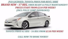 PCO CAR, TOYOTA PRIUS, FOR RENT/HIRE FROM £110/WEEK, BRAND NEW PRIUS FROM £210/WEEK