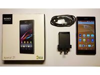 Xperia Z1 with original charger and box
