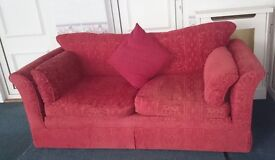 Large 2 seat red settee