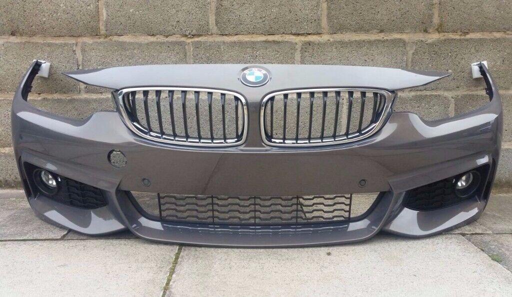 2015 BMW 4 SERIES F32 F33 M SPORT - COMPLETE FRONT BUMPER - FOGS/GRILLS/TRIMS