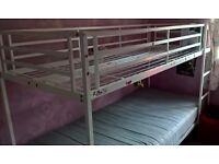 white metal ikea bunkbeds bunk beds