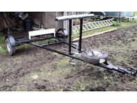 ***Carriage Trailer for two wheel trap, good condition, strong, easy to tow***