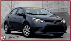 2014 Toyota Corolla LE , BAS MILLAGE, JAMAIS ACCIDENTÉ