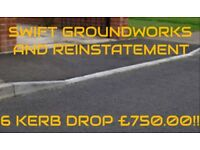 DROP KERBS, DRIVEWAY CONVERSIONS, LANDSCAPING AND MAINTENANCE