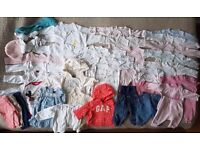 Baby girl bundle 0-3 months, 37 items from NEXT, H&M, GAP