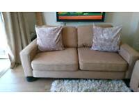 Sofa Workshop Brown 2 Seater Sofa, DELIVERY AVAILABLE