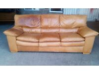Pending Collection Tan Leather 3 Seater Sofa