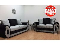 BRAND NEW CHLOE 3 + 2 SEATER SOFA CRUSHED VELVET SOFA SET
