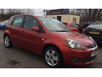 FORD FIESTA ZETEC CLIMATE 1.2 2008 MANUAL 5DR RED PETROL