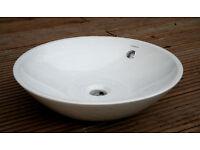 Ceramic Circular Basin Bathroom Sink (Porcelanosa) & Contemporary Bottle Trap Fitting **UNUSED**
