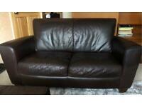 Brown 2 seater leather sofa Natuzzi