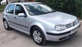 VW GOLF, 1.6 PETROL, 2003 53 PLATE, SILVER, MANUAL
