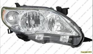 Head Lamp Passenger Side Japan Built Base Ce Le High Quality Toyota Corolla 2011-2013