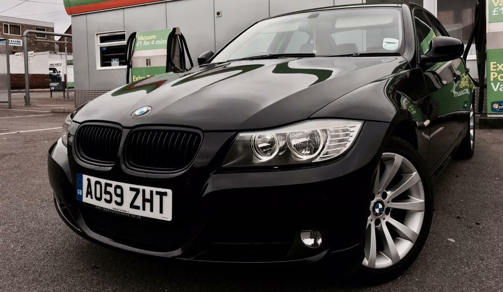 bmw e90 lci facelift 318d business ed satnav power mirrors cream leather in black in. Black Bedroom Furniture Sets. Home Design Ideas