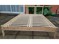 Bed - Ikea solid wood frame