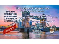 B1 English Class and Test for TFL Private Hire Licence, Certificate Accepted by Transport For London