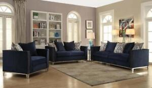 LIVING ROOM COUCHES- NAVY BLUE SOFA ON SALE- BLUE SOFA | COUCHES (BD-1236)