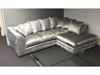 ****SALE SALE SALE BRAND NEW CRUSHED VELVET CORNER SOFA ONLY £349 SALE SALE SALE****