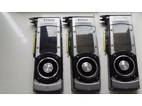 2 x GTX TITAN BLACK and GTX 780 Graphic cards Like Brand New