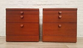 Pair Of Stag Teak Bedside Cabinets (DELIVERY AVAILABLE FOR THIS ITEM OF FURNITURE)