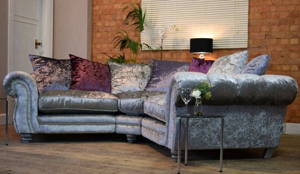 Beautiful crushed velvet sofa .. NEW bought from shop just over a month ago