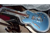 Gibson Midtown in Pelham Blue with Bigsby tremolo, Schaller tuners, Bareknuckle Mississippi Queens