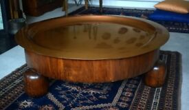 Moroccan CousCous Table, wood/copper