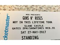 last minute, 2 Guns N Roses Tickets available For Slane