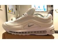Nike air max 97 triple white UK 9