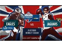 2 x NFL Philadelphia Eagles v Jacksonville Jaguars - Wembley Stadium, 28 Oct