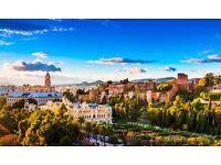 2 return flight tickets, London- Malaga, 1 Aug- 14 Aug