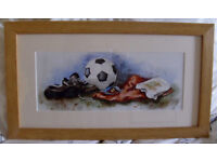 After The Game Football Print Professional Solid Oak Frame Print