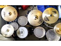 Tama Superstar Hyperdrive Drum Kit + Cymbals + Extras
