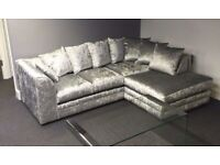Beautiful DYLAN VlVET Sofas - CORNE ROR 3+2 Seater - + Quicker delivery= ALL Cushions Included