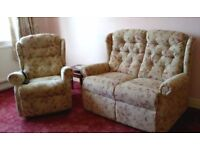 Sofa and Arm Chair with mechanics. Immaculate condition.