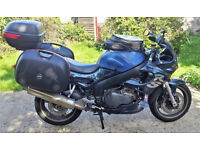 Triumph Sprint RS, full hard luggage, in regular use