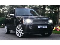 Facelift 2005 (55) RANGE ROVER VOGUE 3.0 TD6 DIESEL. TOP OF THE RANGE MODEL. TAN LEATHER. LOW MILES