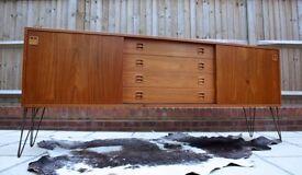 Danish Modern Teak Sideboard Mid Century Retro Vintage 50s 60s 70s