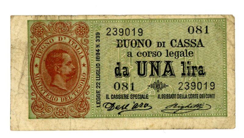 Italy … P-34 … 1 Lira … L.1894 … *F+*